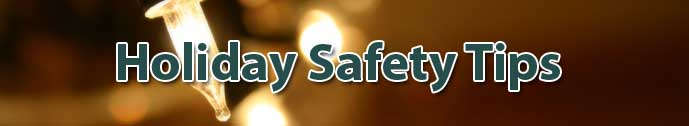 holiday safety banner