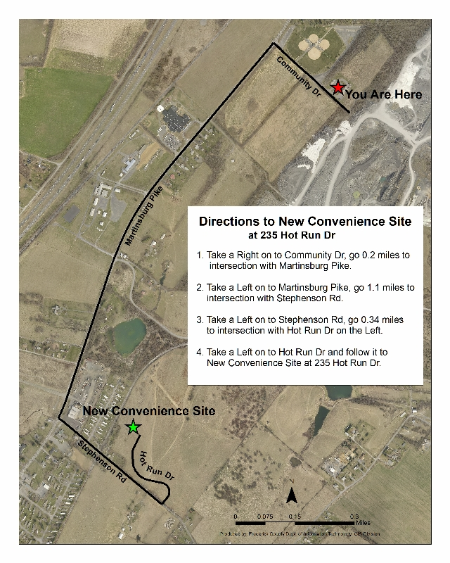Map showing location of new Clearbrook Recycling Convenience Center