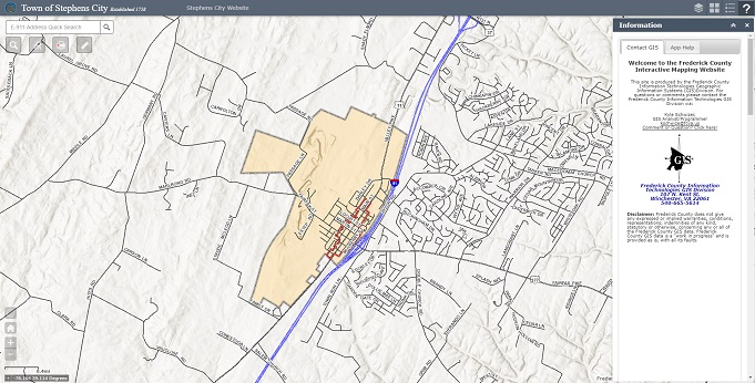 Interactive Map Of Virginia.Interactive Maps Frederick County